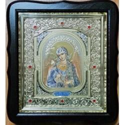 Ангел Хранитель Соф.тем.Киот Д дер.фигурный пл.вставка 15х18 20ф с камнями