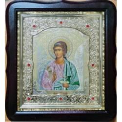 Ангел Хранитель Соф.цвет.Киот Д дер.фигурный пл.вставка 15х18 20ф с камнями