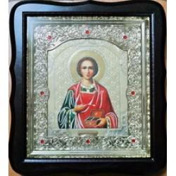 Пантилиймон Киот Д  дер.фигурный пл.вставка 15х18 20ф с камнями