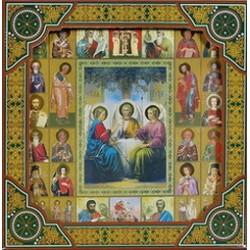 Троица Св. Икона  баг.рам. Подарочной упаковке