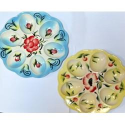 Тарелка Пасхальная на 6 крашенок цветная