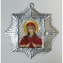 Семистрельная Б.М. Звезда Икона Малая  сер. б/о (80х85)