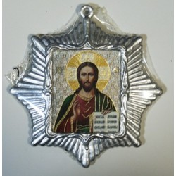 Спаситель Звезда Икона Малая  сер. б/о (80х85)