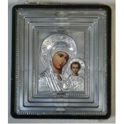 Казанская Б.М. Икона Малая  сер.в окл.(70х80) 02851