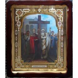 Киот Храмовый  60х80 фигурный БН Воздвиженье Креста