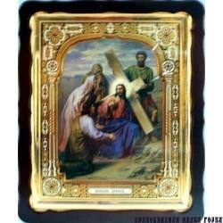 Киот Храмовый  60х80 фигурный БН Нашение Креста Господня