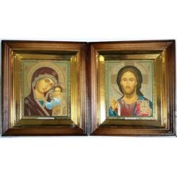 Киот Г прямой дер. ( Византия) 15х18 пара (цена за 2 иконы)