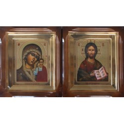 Киот Г прямой дер. фреза ( визант.) 15х18 пара (цена за 2 иконы)