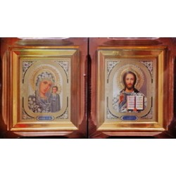 Киот Г прямой дер. фреза ( Полтава.) 15х18 пара (цена за 2 иконы)