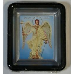Ангел  Хранитель Киот пл.черный без  окл.