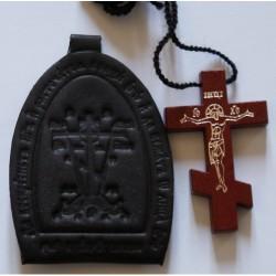 Ладанка  М кожаная с др.кр.(1113-41)  упаковка 100 шт