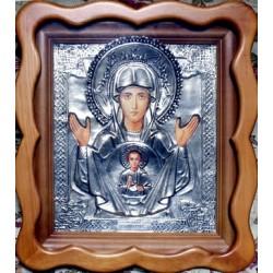 Киот Гальванопластика Знамение М.Б. (450х410)