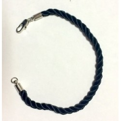 Браслет косичка плетеный Черный с карабином 17см