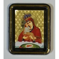 Почаевская Б.М. (в короне) Одинарная икона  упаковка 25 шт