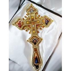 Кресты И Мет.с кам и эмалью синий и красный