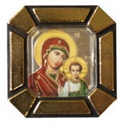 Казанская Б.М.Одинарная икона в стекле    упаковка 25 шт
