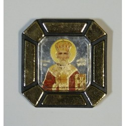 Николай Чудотворец в митре Одинарная икона в стекле    упаковка 25 шт