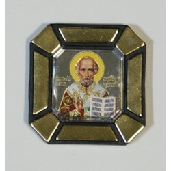 Николай Чудотворец Одинарная икона в стекле    упаковка 25 шт