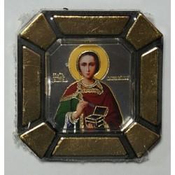 Пантелеймон Одинарная икона в стекле    упаковка 25 шт