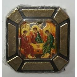 Троица Ветхозаветная Одинарная икона в стекле    упаковка 25 шт