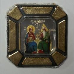 Троица Новозаветная  Одинарная икона в стекле    упаковка 25 шт