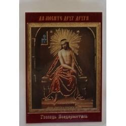 ИСУС ХР. В ТЕРН. ВЕНЦЕ икона ламин 6*9 522