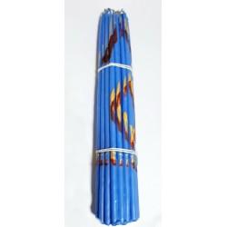 Голубые (парафин 33 свечи) Свечи Иерусалим1 пучок