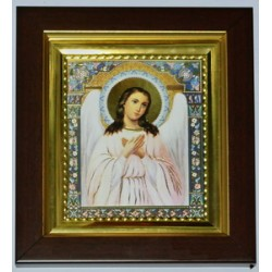 Ангел Хранитель Багетная рамка  023+желтая рамка 14*16 без стекла