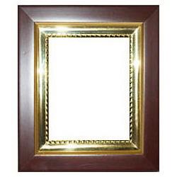 Багетная рамка 023  желтая рамка 14*16 без стекла