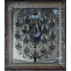 Древо Богородицы Деревянная рамка 15х18