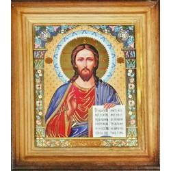 Спаситель св. Деревянная рамка 10 х12