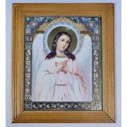 Ангел Хранитель Деревянная рамка 15х18