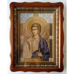 Ангел Хранитель Киот дер.фигурный багет 17х24 Л