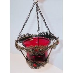 Лампада КУ068А  с красн стаканом, 96 шт в ящ (1113-130)