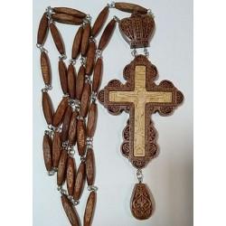 Наперсный  наградной крест  с цепочкой красн.дерево