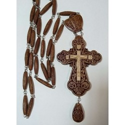 Наперсный  наградной крест  с цепочкой красн.дерево1