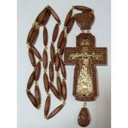 Наперсный  наградной крест  с цепочкой красн.дерево золочекие
