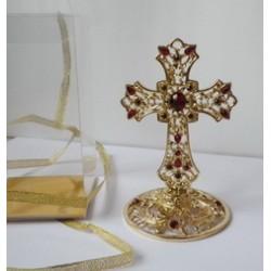 Крест настольный с акриловыми камнями О456  (1113-7) в 1 ящ 72шт