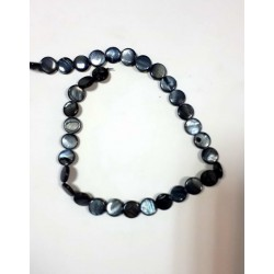 Синий  круглый камень на нитке 35шт цена за нитку