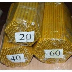 Свечи восковые 40 (200шт)  26 см, диаметр 7мм 2кг