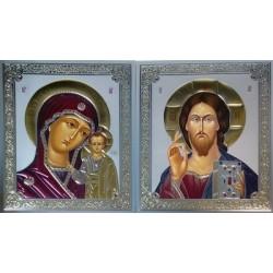 Иисус Христос ( сер.фон) 15х18 конгрев зеленый