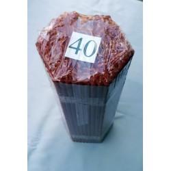 Свечи парафиновые 40 Красная (400 шт) 19 см, диаметр 6мм 040пт2