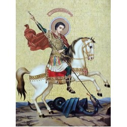 Георгий Победоносец на коне 30 х 40 см