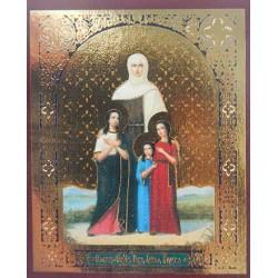 Вера, Надежда, Любовь и мать София Лик,4,2х5 см для скл. и мал. икон(цена за уп. 100 шт)