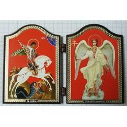 Георгий +Ангел Складень Д2Ф(60х84) 11шт,01220