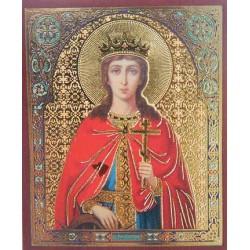 Екатерина  Лик,4,2х5 см для скл. и мал. икон(цена за уп. 100 шт)