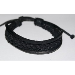 Браслет  ниточка плетеный кожа 5-7 (упаковка 12 шт)