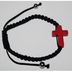 Браслет  ниточка плетеный крест кам. 11-3 (упаковка 12 шт)