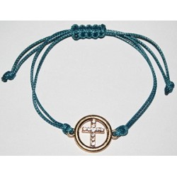 Браслет  ниточка плетеный крест кам.круг. 11-4 (упаковка 12 шт)