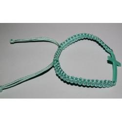 Браслет  ниточка плетеный крест мет. 11-1  (упаковка 12 шт)